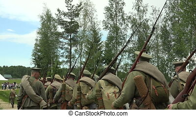 The guard of Russian soldiers The first world war WWI...