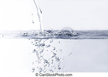 Water bubbles - Photo of the clean water with bubbles