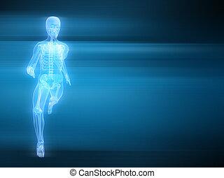 running man - 3d rendered illustration of a running man