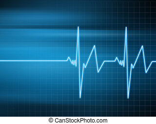heartbeat - 3d rendered illustration of heartbeat