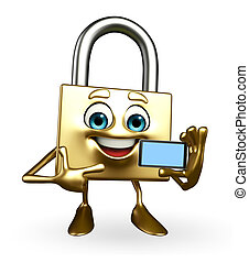 Lock Character with mobile
