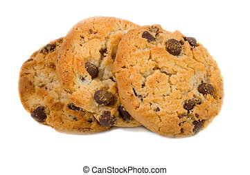 Chocolate Chip Cookies - Isolated Chocolate Chip Cookies