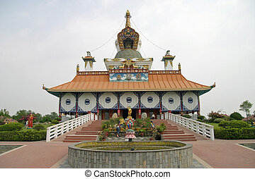German temple in Lumbini, Nepal