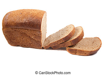 rye bread isolated over white