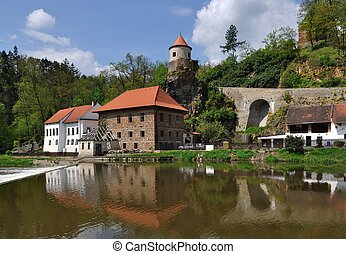 water mill - An old water mill on the river in the South...