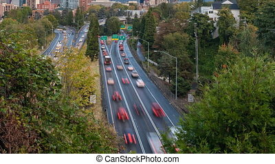 Timelapse of Hwy 26 in Portland OR - Timelapse Movie of...
