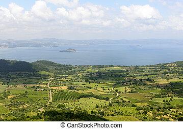 Bolsena lake from Montefiascone