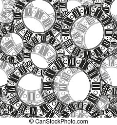 dial the old clock vector seamless pattern illustration