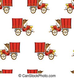 Vintage truck seamless vector pattern illustration clip art