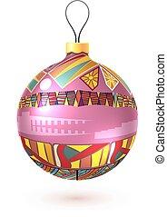 Vector Christmas decoration made from tribal shapes. Original de