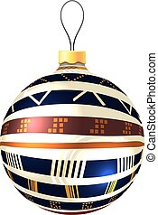 Vector Christmas decoration made from tribal shapes. Original ci
