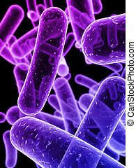 bacteria - 3d rendered close up of bacteria