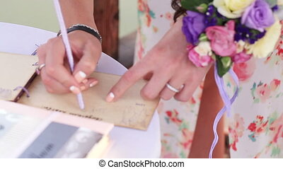 Signature wedding vows witness - Witness signs wedding vows...