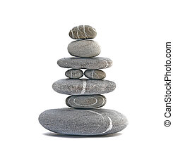 stone tower isolated on a white background