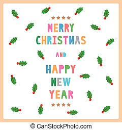 MC and HNY greeting card12 - Card for Merry Christmas and...