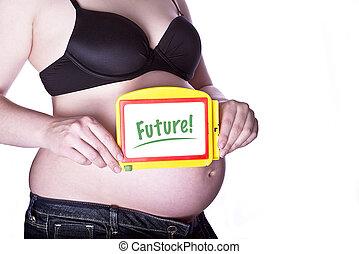 futuro, grávida, sinal