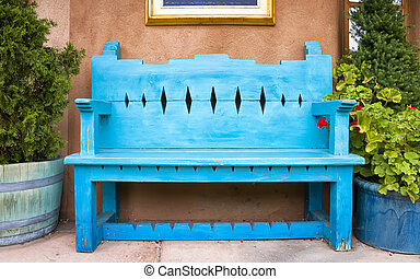 Antique Wooden Bench in Santa Fe - Antique Wooden Bench...