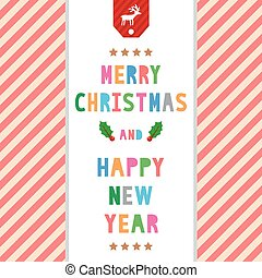 MC and HNY greeting card8 - Card for Merry Christmas and...