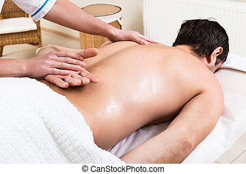 massage in beauty salon - massage makes a man a woman in a...