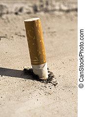 Put out cigarette taken as macro