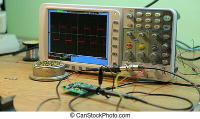 Oscilloscope in the laboratory