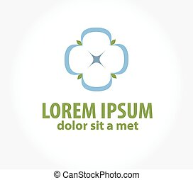 Cotton, logo template