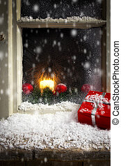 christmas decoration on a window 3 - romantic christmas...