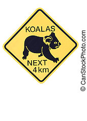 Koalas, advertencia, señal