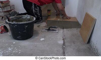 master man lay tile