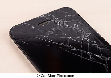 Broken screen smartphone