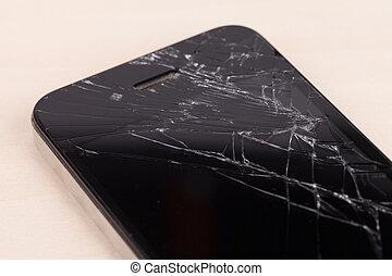 roto, pantalla, smartphone,