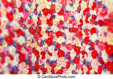 Carpet made of the colorful flowers