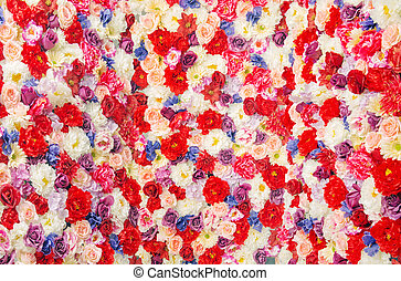 Giant bouquet of the colorful flowers