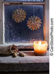 christmas decoration on a window 24 - romantic christmas...