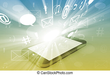 comunicação, tecnologia,