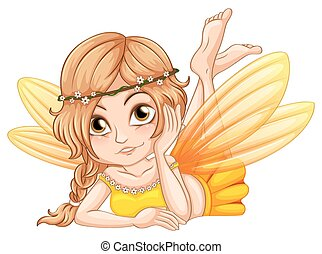 Fairy - Illustration of a close up fairy