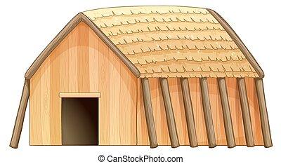Cottage - Illustration of a close up cottage