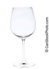 A full  wine glass of water on a neutral background