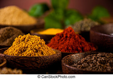 Spices of Indonesia - Traditional oriental spices in...