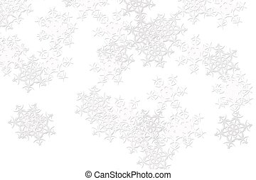 white background with blurred white snowflakes
