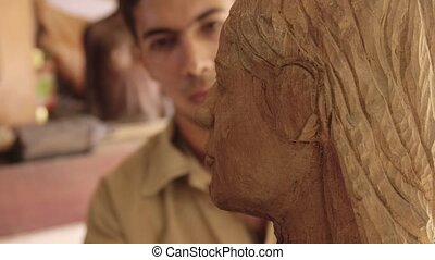 Sculptor, young artist, art, crafts - Man, people, job,...