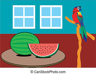 Summer Day - Cool Watermelon on a hot spring or summer day.