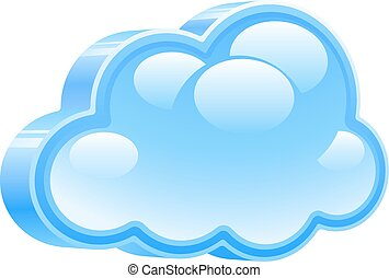 Vector cloud - 3d cloud icon. Eps8. RGB. Organized by...