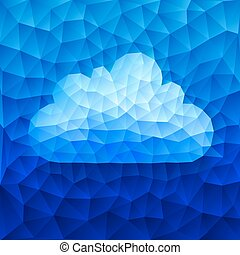 Vector cloud - Blue cloud consist of triangles. Eps8 RGB...