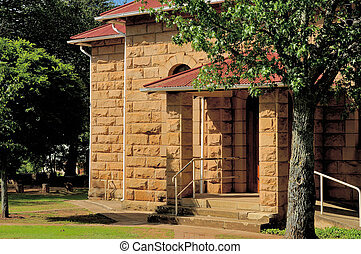 Sandstone church, Clarens, South Africa - Excellent example...