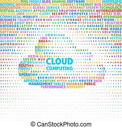 Cloud computing concept in word cloud. Eps8. RGB. Global...