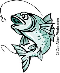Carp fish - Jumping carp fish for fishing sport symbol
