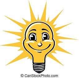 Smiling light bulb
