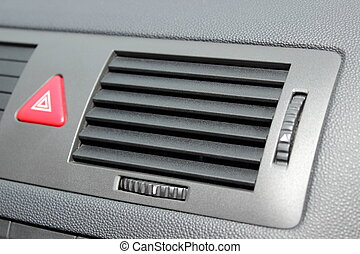 Car emergency button and air conditioning system elements