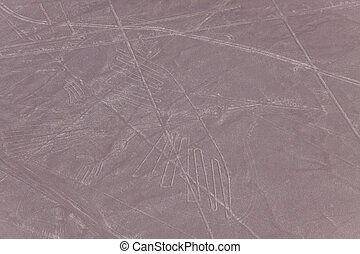 Nazca lines - Condor - Nazca lines in the shape of a condor.